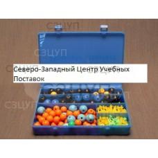 Комплект моделей атомов для составления моделей молекул со стержнями лабораторный